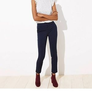 NWT LOFT VELVET DOT SKINNY ANKLE PANTS IN MARISA
